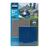 Plus Plus Baseplate Duo - Grey and Blue