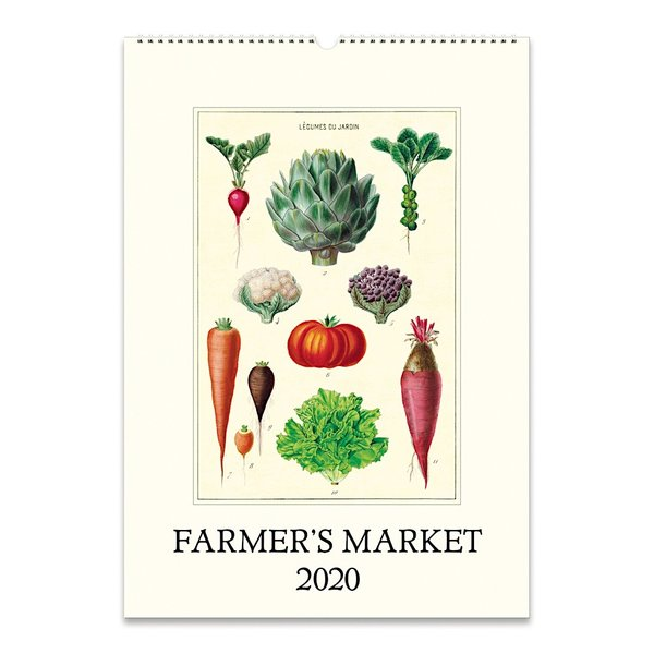 Cavallini Papers & Co., Inc. Cavallini Wall Calendar - Farmer's Market 2020