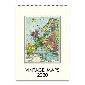 Cavallini Papers & Co., Inc. Cavallini Wall Calendar - Vintage Maps 2020