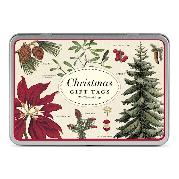 Cavallini Papers & Co., Inc. Cavallini Christmas Botanical Gift Tags