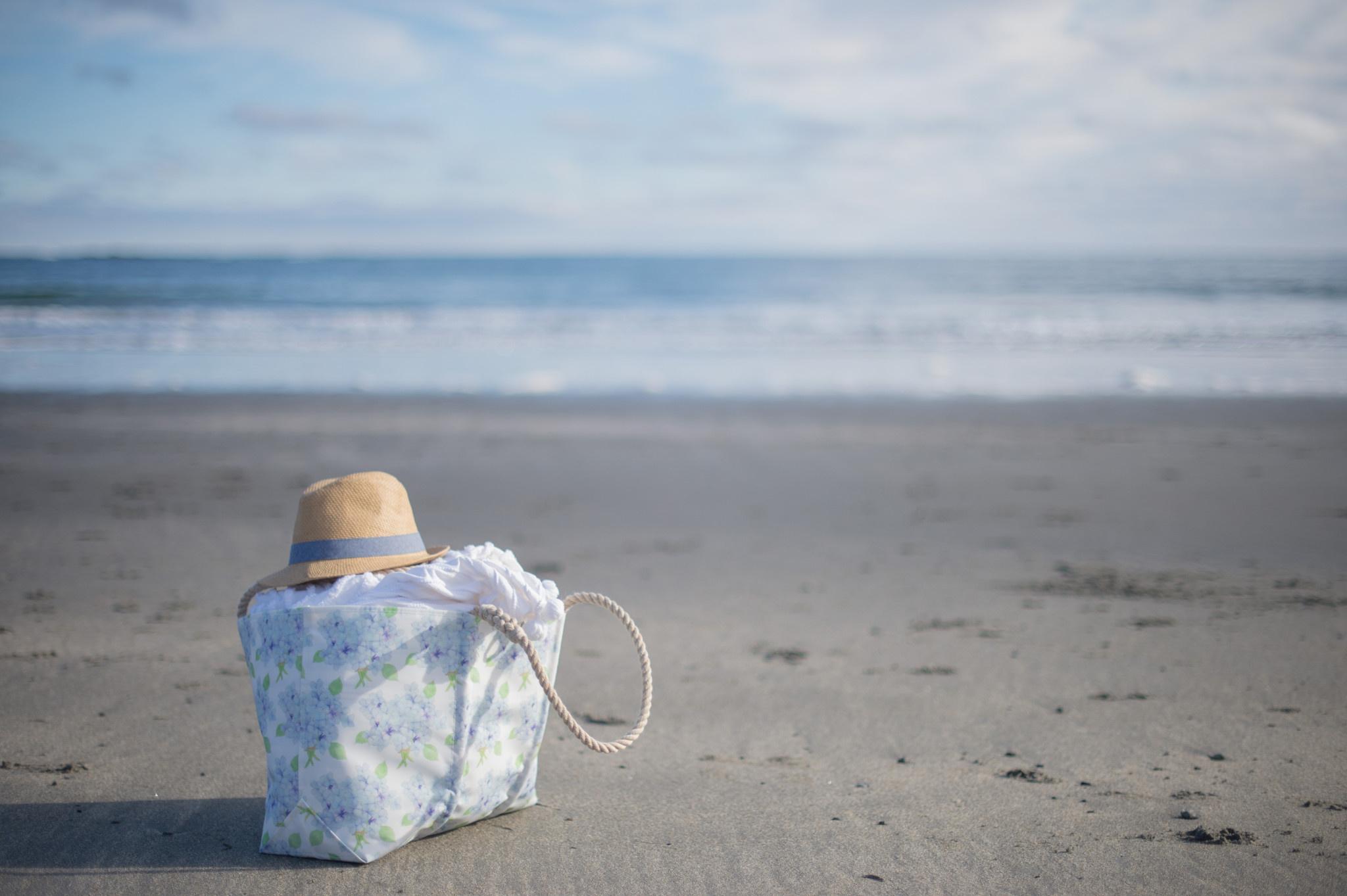 Sea Bags Sara Fitz Hydrangea Pattern Tote - Hemp Handle - Large with Clasp