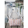Sea Bags Sara Fitz Lobster Pattern Tote - Hemp Handle - Large with Clasp