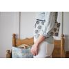 Sea Bags Sara Fitz Striped Shirt Pattern Wristlet