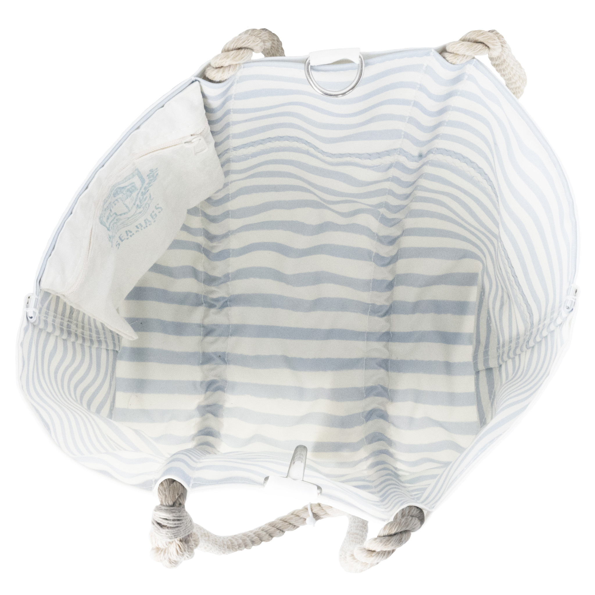 Sea Bags Sara Fitz Hydrangea Pattern Tote - Medium with Clasp