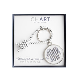 Chart Metalworks Chart Metalworks Key Ring - Sara Fitz Striped Shirt - Pewter