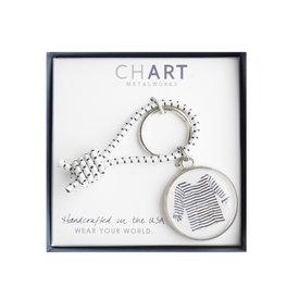 Chart Metalworks Chart Metalworks Key Ring - Sara Fitz Striped Shirt - Pewter