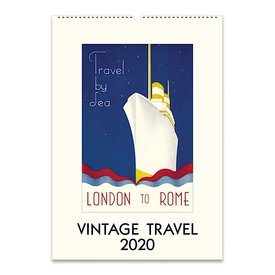 Cavallini Papers & Co., Inc. Cavallini Wall Calendar - Vintage Travel 2020