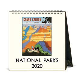 Cavallini Papers & Co., Inc. Cavallini Desk Calendar - National Parks 2020