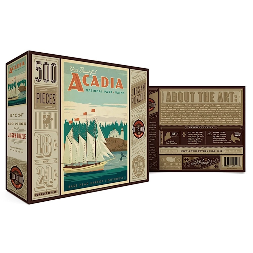 True South Puzzle True South Puzzle Acadia - 500 Pieces