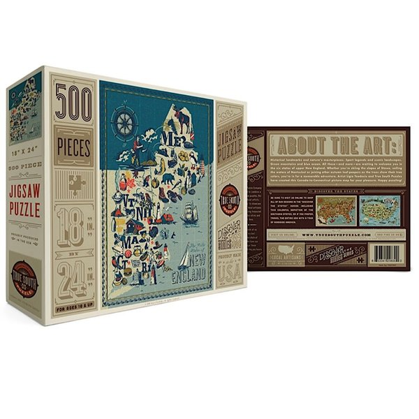 True South Puzzle True South Puzzle - New England States