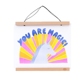 Yellow Owl Workshop Yellow Owl Workshop You Are Magic Unicorn Print