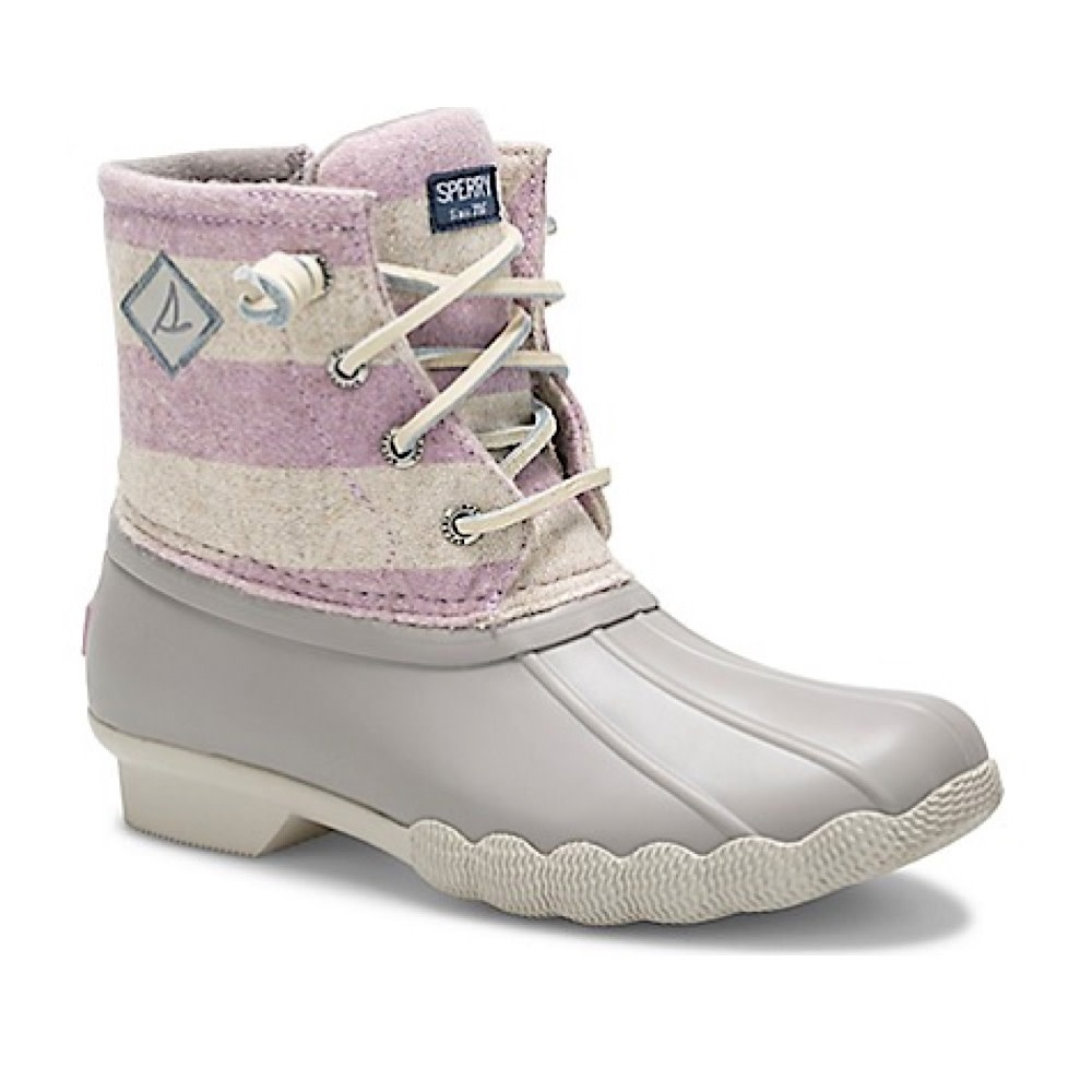 Sperry Big Kids SP Saltwater Boot - Oat/Lilac
