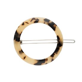 Machete Machete - Small Circle Hair Clip - Blonde Tortoise