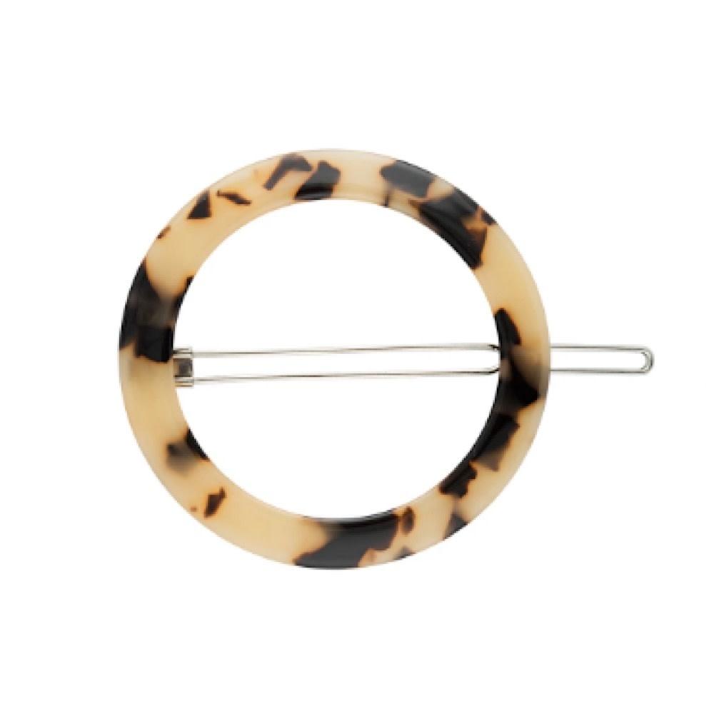 Machete - Small Circle Hair Clip - Blonde Tortoise