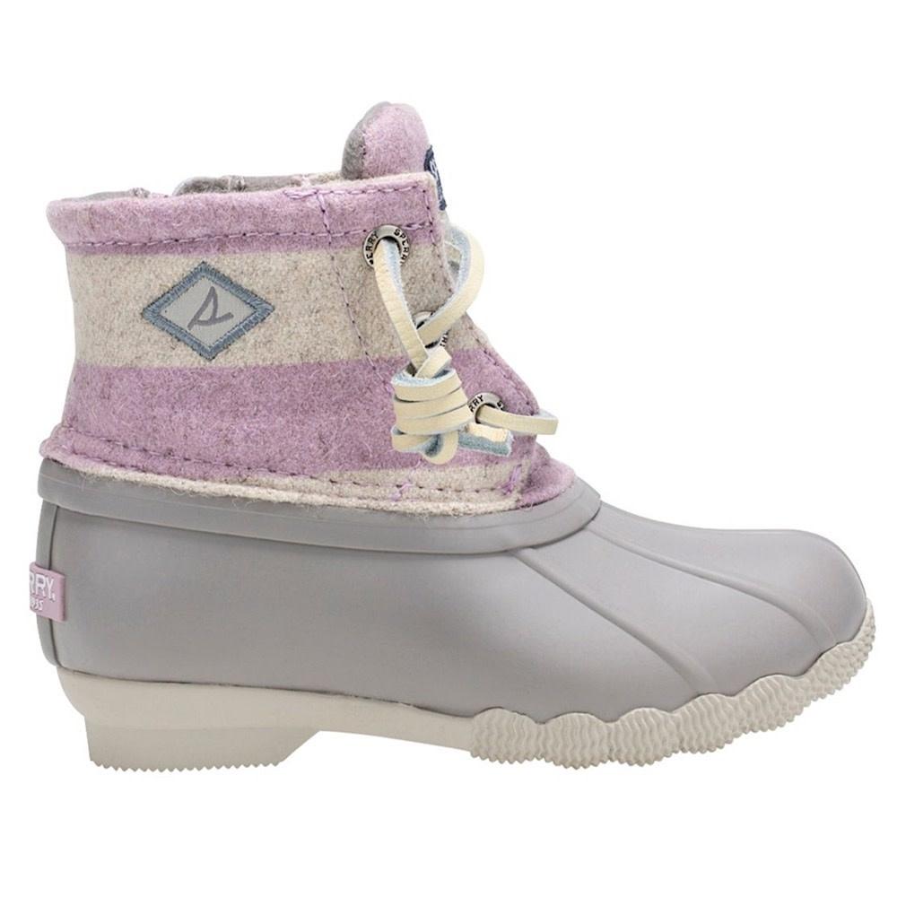 Sperry Little Kids Saltwater Boot - Oat/Lilac