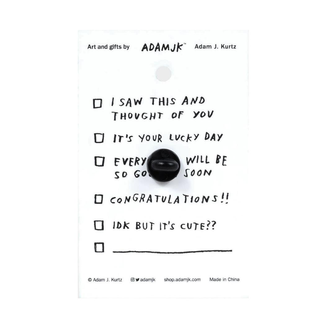 Adam J. Kurtz Bottled Up Feelings - Enamel Pin