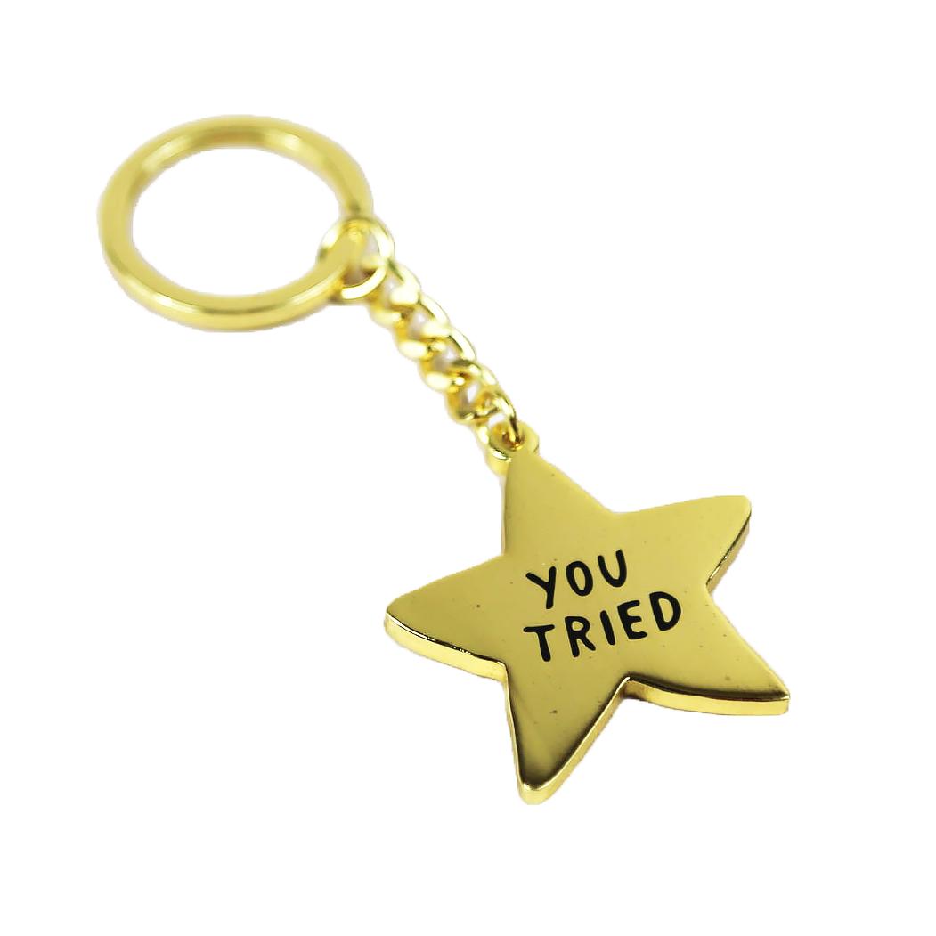 Adam J. Kurtz You Tried Gold Star - Key Chain