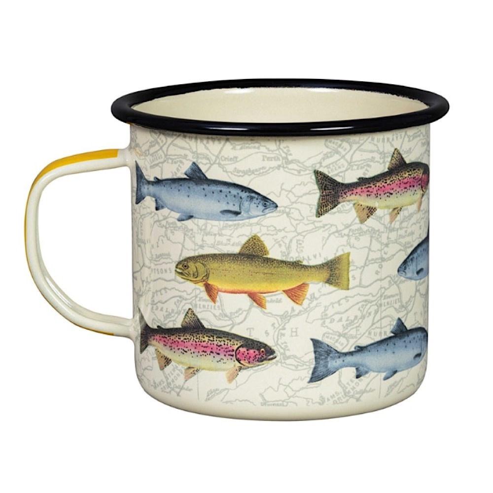 Enamel Mug Fish - Cream
