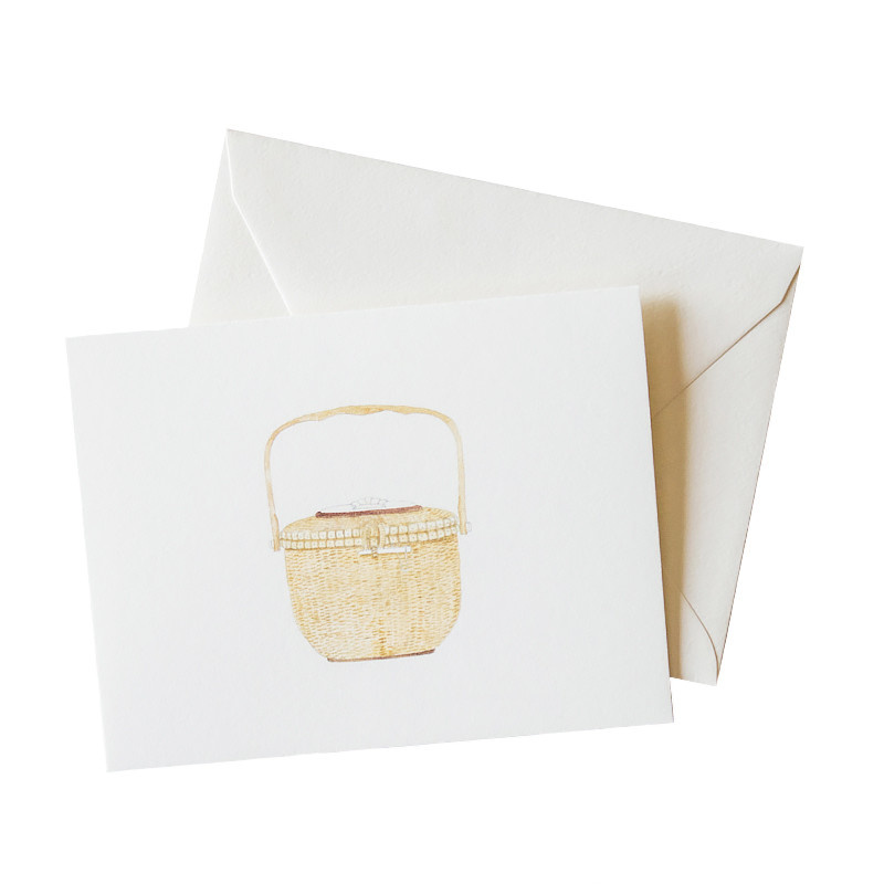 Sara Fitz Nantucket Basket Card - Box of 8