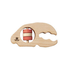 Patriot Baby Patriot Baby Wooden Teething Rattle - Lobster Claw