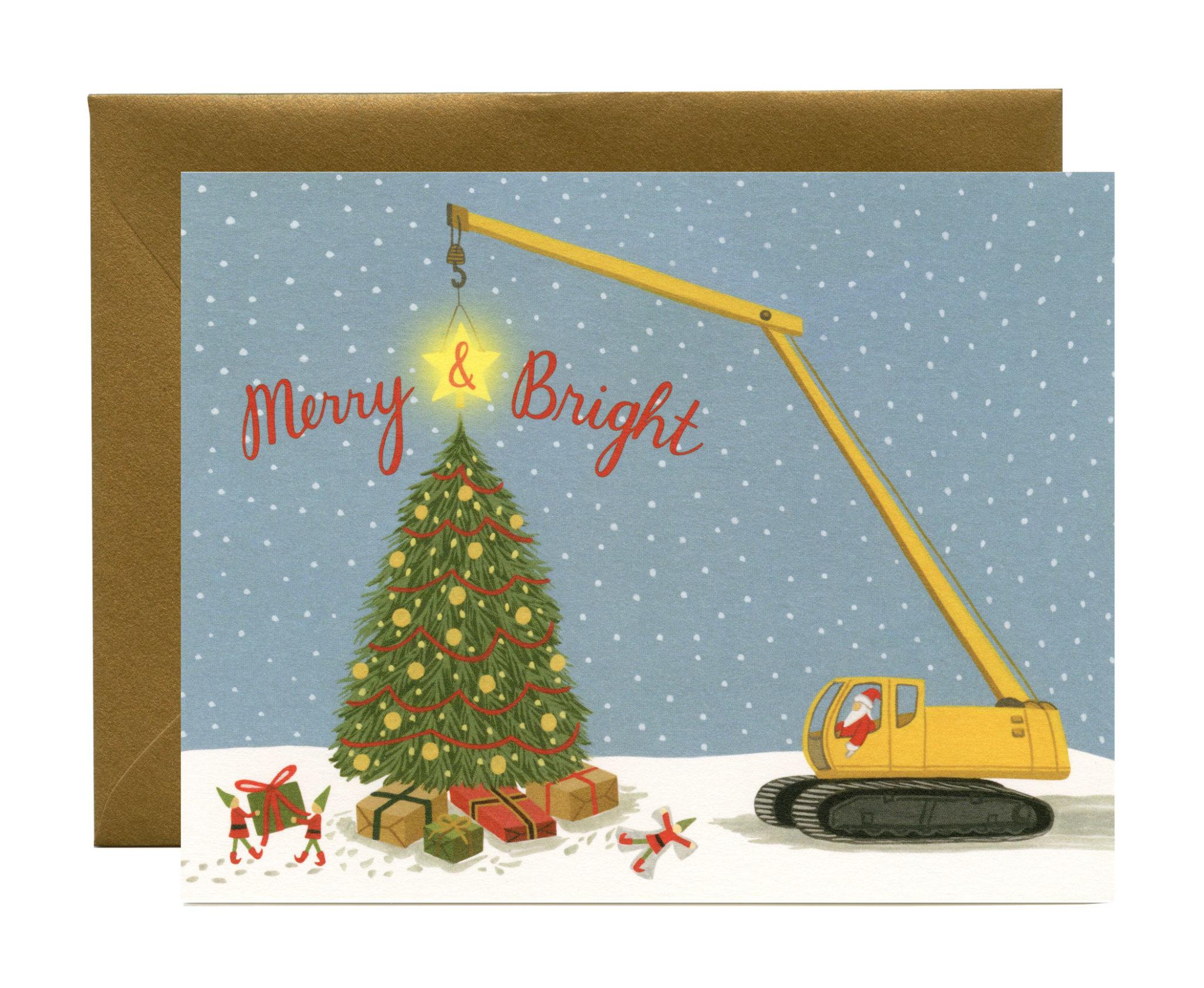 Yeppie Paper Yeppie Paper Construction Santa Card