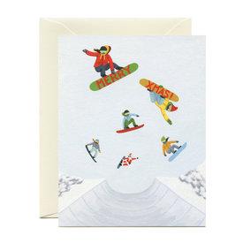 Yeppie Paper Yeppie Paper Snowboarding Santa & Friends Card
