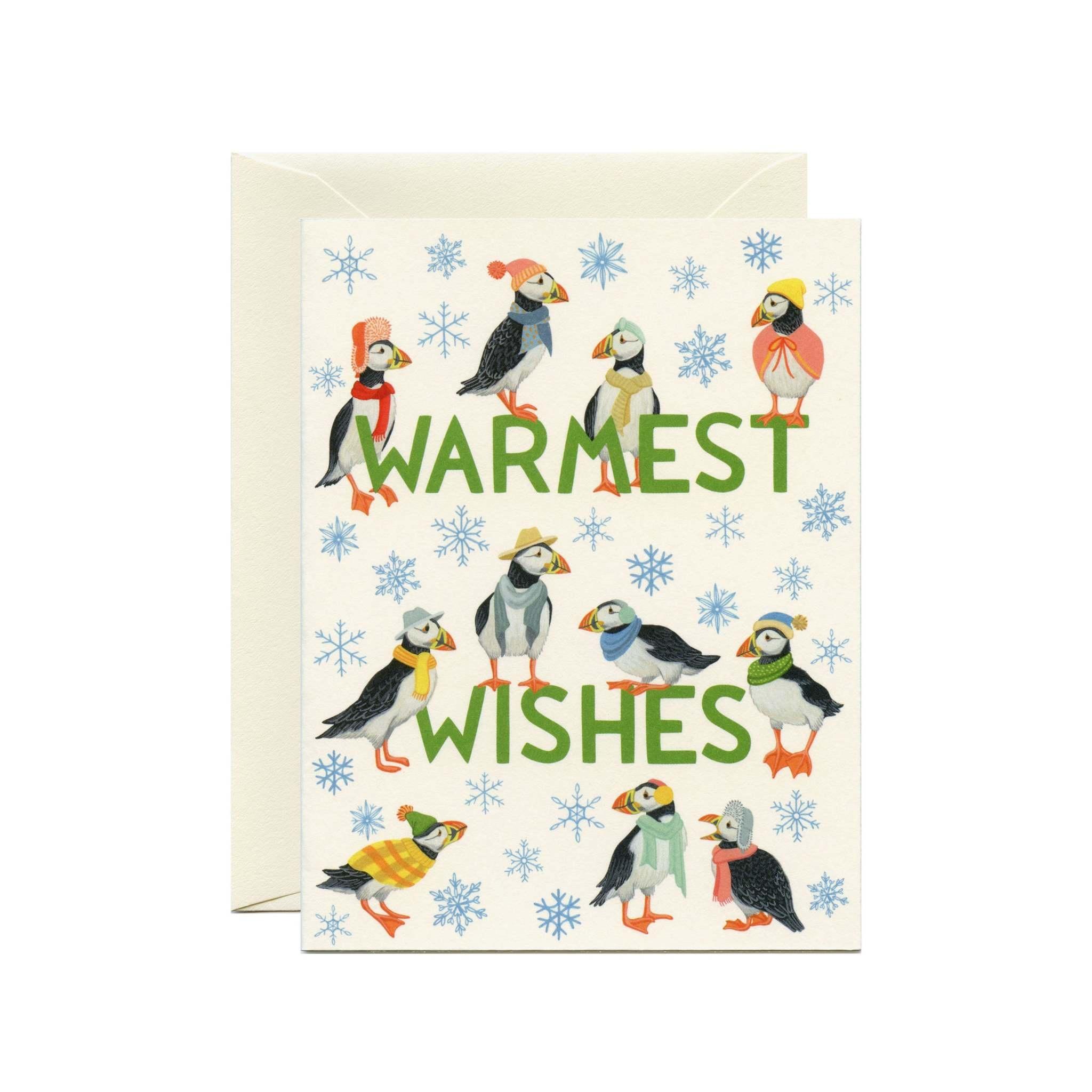 Yeppie Paper Puffins Card