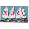 Vintage Deadstock Holiday Card - Noel Sailboats