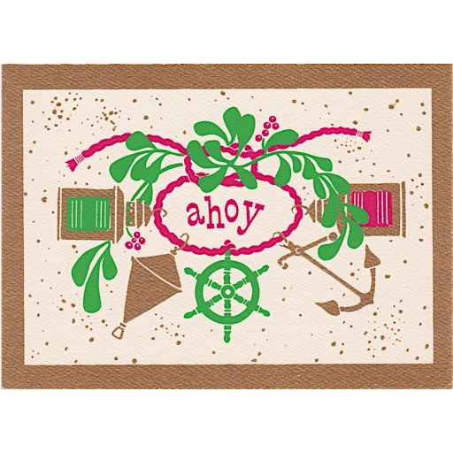 Vintage Deadstock Holiday Card - Ahoy Christmas