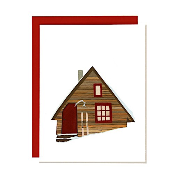 Girl Chewing Gum Girl Chewing Gum Card - Snowy Cabin