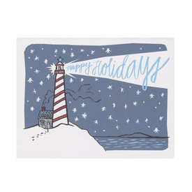 Daytrip Society Daytrip Society Lighthouse Happy Holidays Card