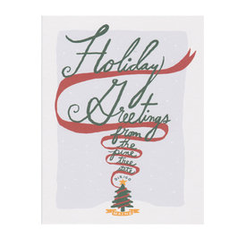 Daytrip Society Daytrip Society Holiday Greetings Pine Tree State Dirigo Card - Set of 10