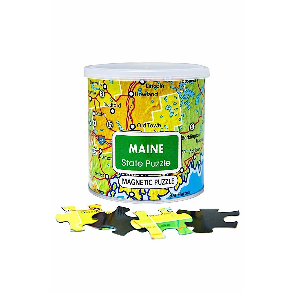 Geotoys Magnetic Puzzles - 100 Piece - Maine