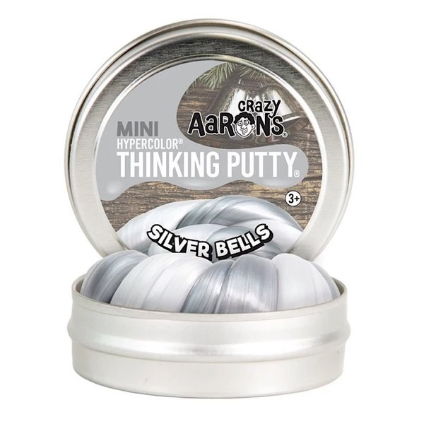 """Crazy Aaron Crazy Aaron's Thinking Putty Mini Silver Bells 2"""""""
