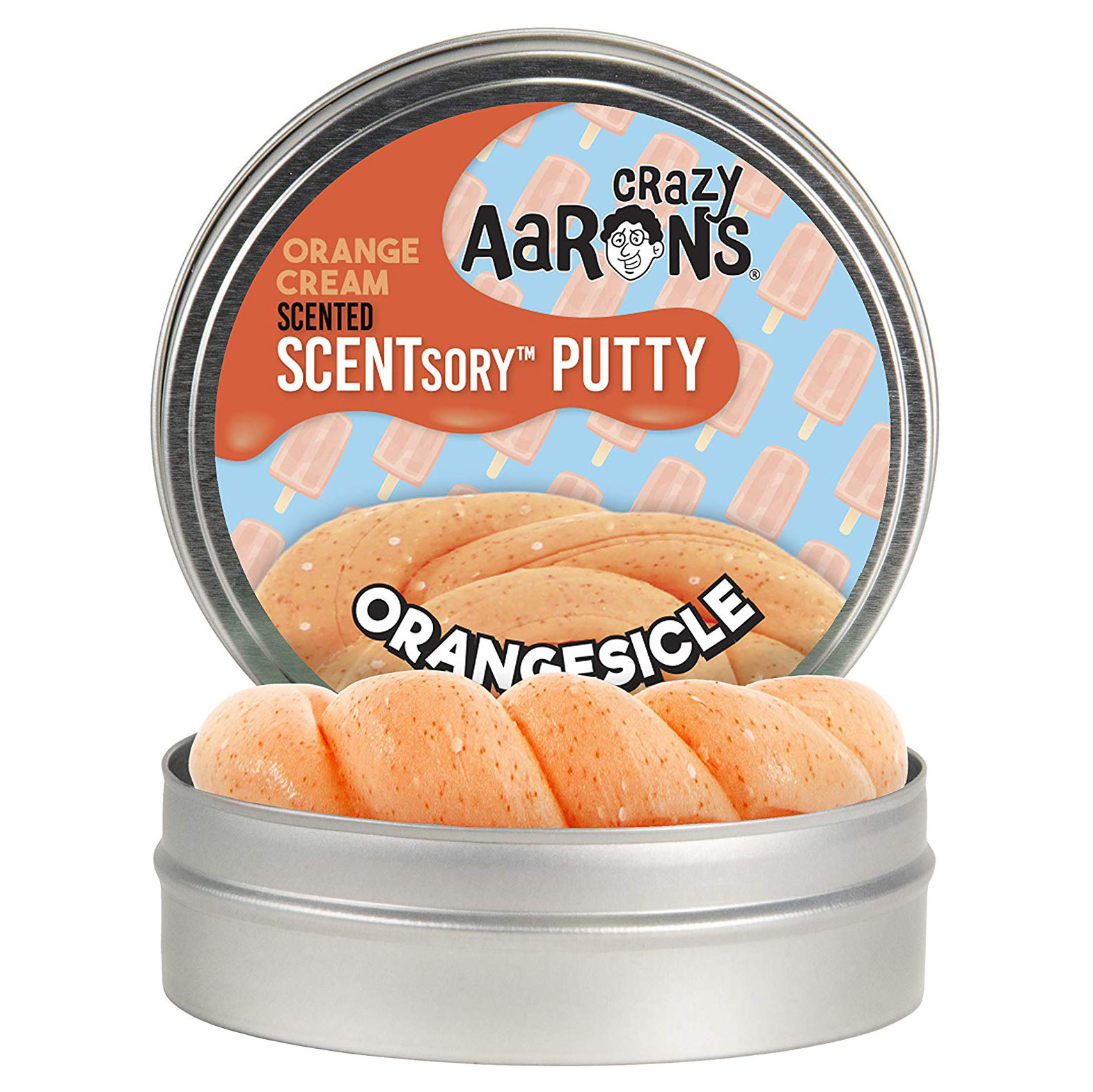 Crazy Aaron's Thinking Putty SCENTSory Orangesickle 2.75""