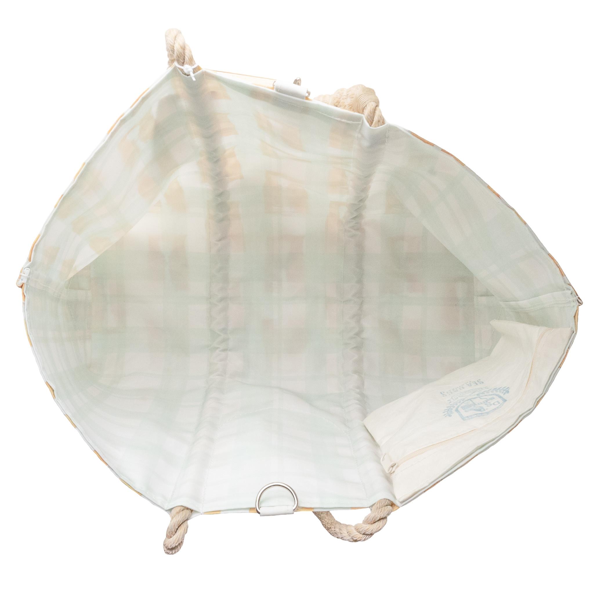 Sea Bags Sara Fitz - Life Jacket - Large Tote - Hemp Handle with Clasp