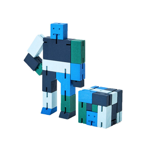 Areaware Cubebot Capsule Small - Blue Multi