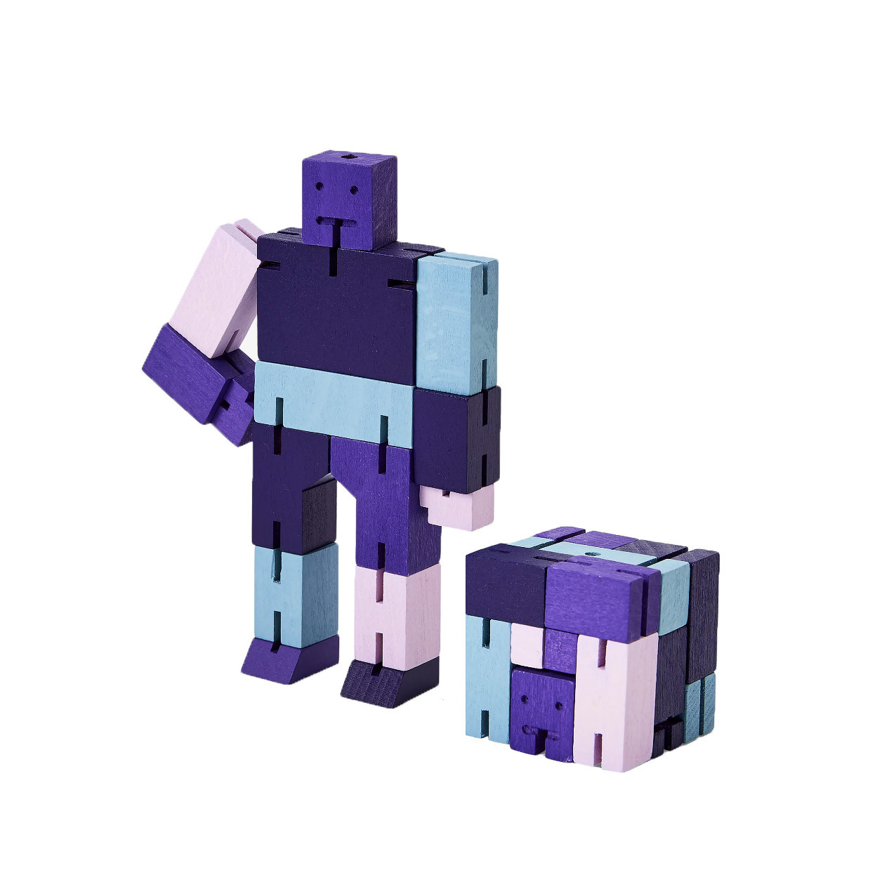 Areaware Cubebot Capsule Small - Purple Multi