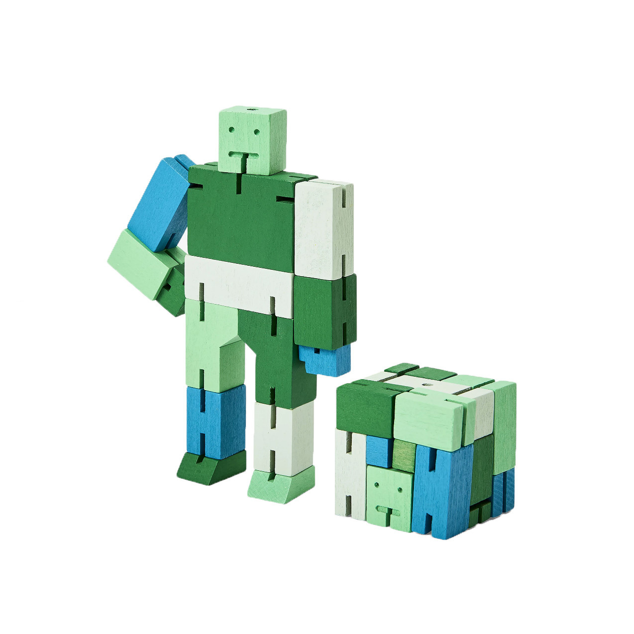 Areaware Cubebot Capsule Small - Green Multi