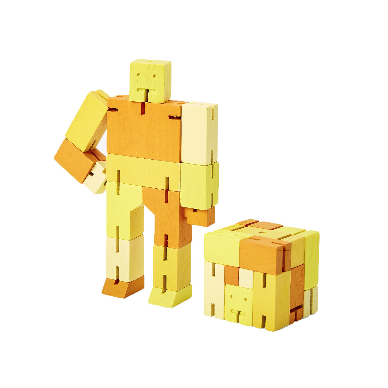 Areaware Cubebot Capsule Small - Yellow Multi