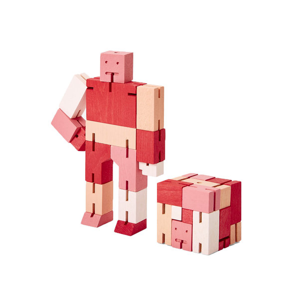 Areaware Cubebot Capsule Small - Red Multi