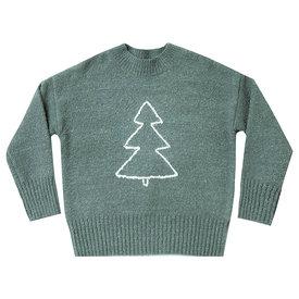 Rylee + Cru Rylee + Cru Tree Cassidy Sweater - Spruce
