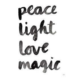 Buy Olympia Little Truths Peace Light Love Magic Print - 8.5x11