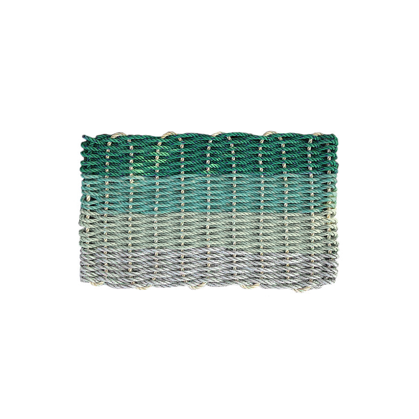 Cape Porpoise Trading Co. Recycled Rope Mat - Hey Ombre Green Tones - Standard