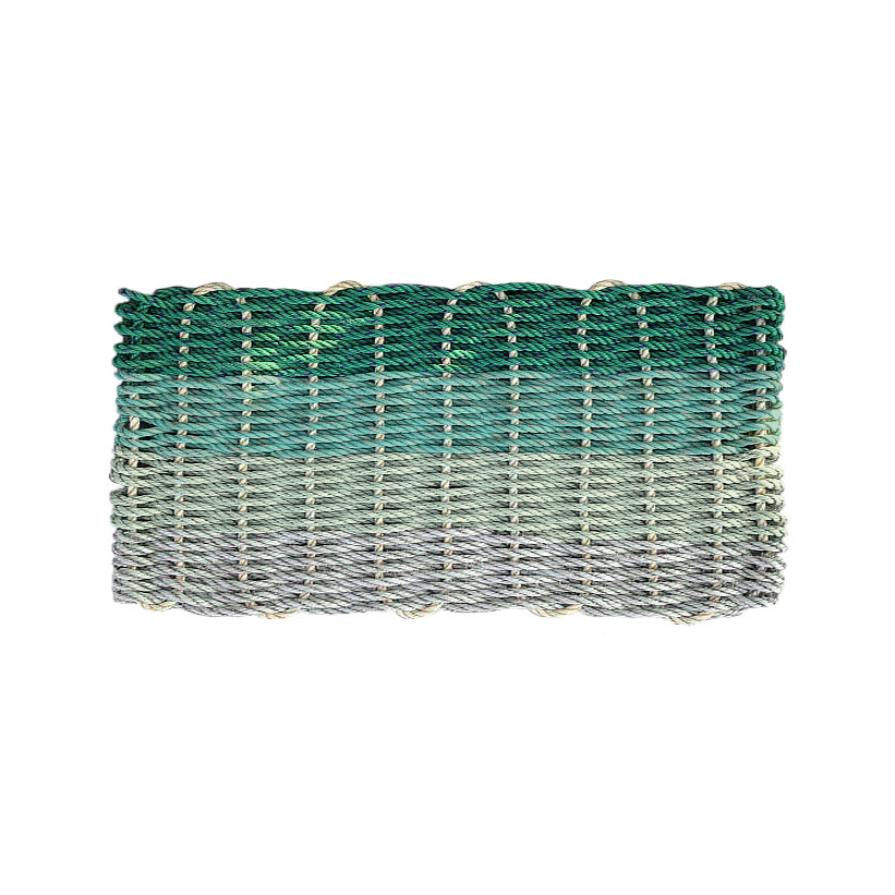 Cape Porpoise Trading Co. Recycled Rope Mat - Hey Ombre Green Tones - Large