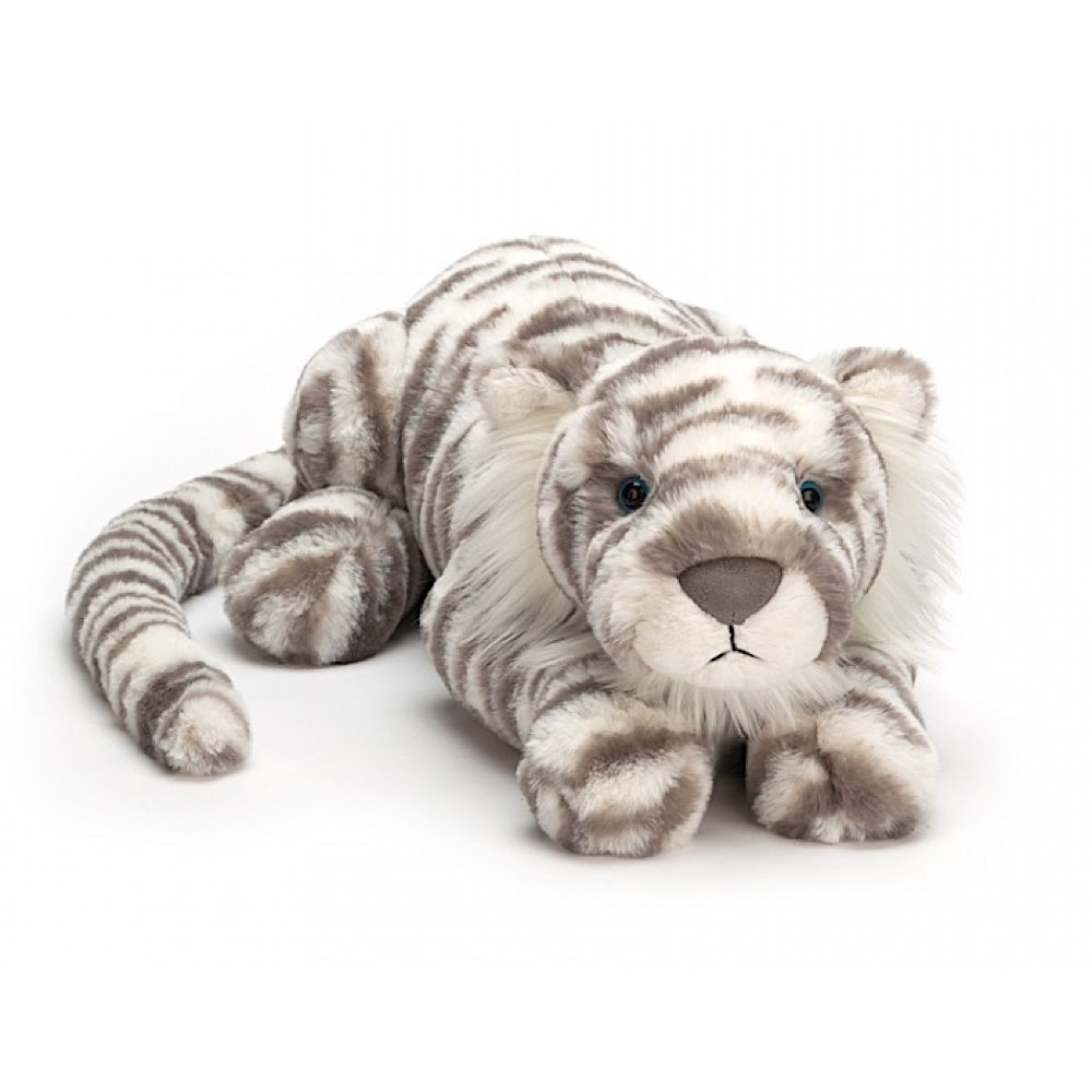 Jellycat Sacha Snow Tiger - Really Big 29 Inches