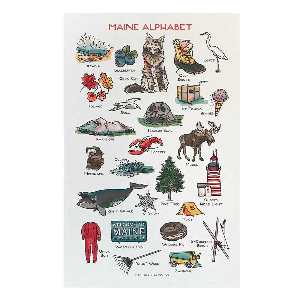 Maine Alphabet Print - 11x17