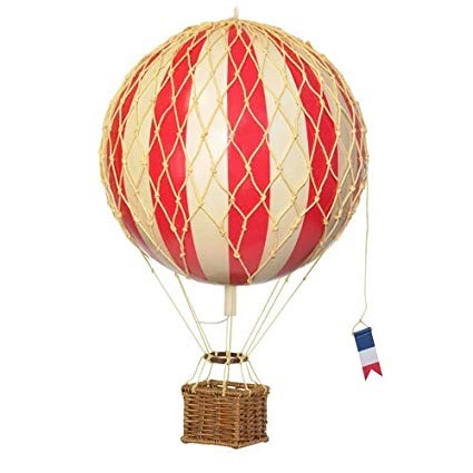 Authentic Models Hot Air Balloon - Floating in the Skies - 8.5 cm - True Red