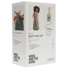 Wool And The Gang Wool And The Gang Triple Threat Scarf Kit - Ivory White