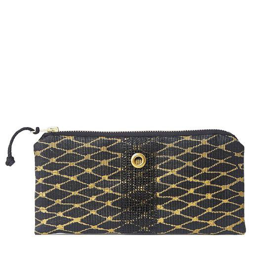 Alaina Marie Bait Bag Wallet - Black & Gold